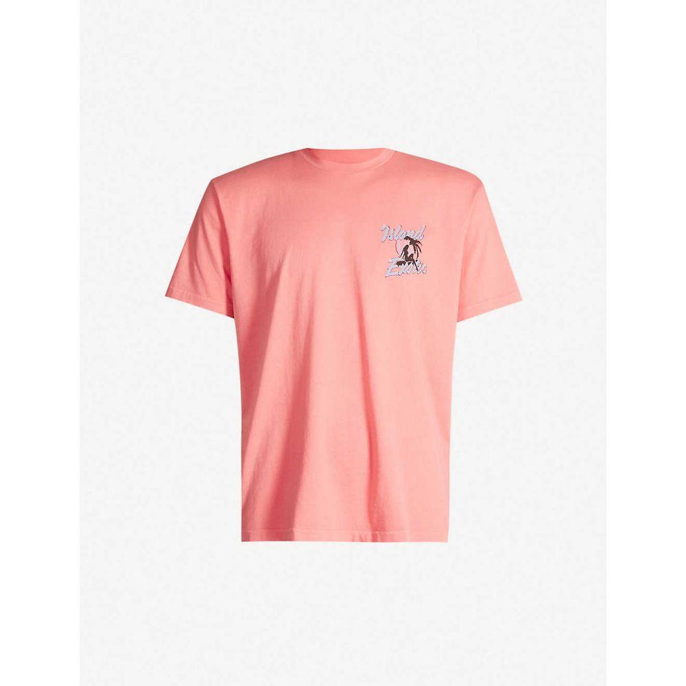 ジャストドン JUST DON メンズ Tシャツ トップス【graphic-print oversized cotton-jersey t-shirt】Coral