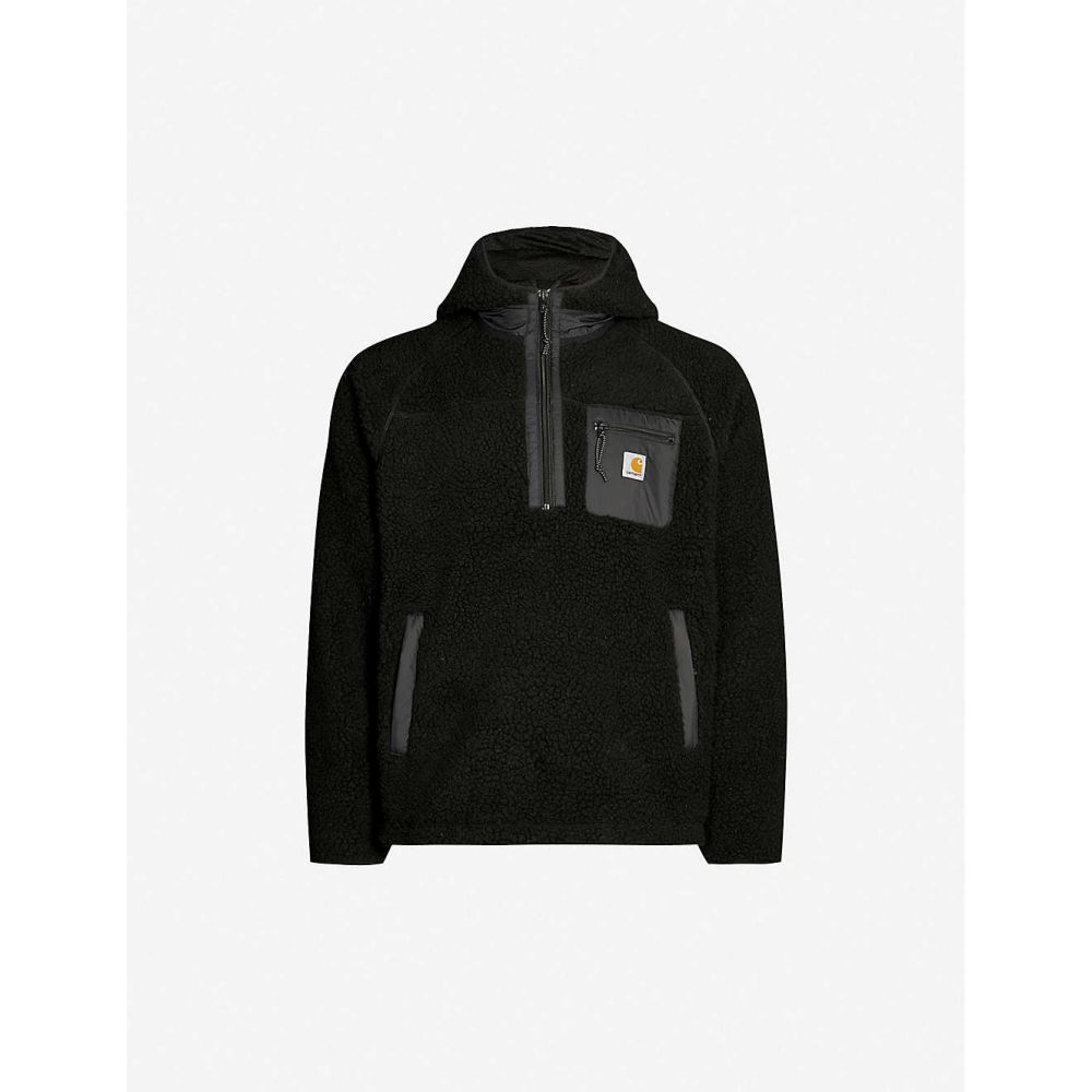カーハート CARHARTT WIP メンズ ジャケット アウター【prentis funnel-neck logo-embroidered fleece jacket】Black