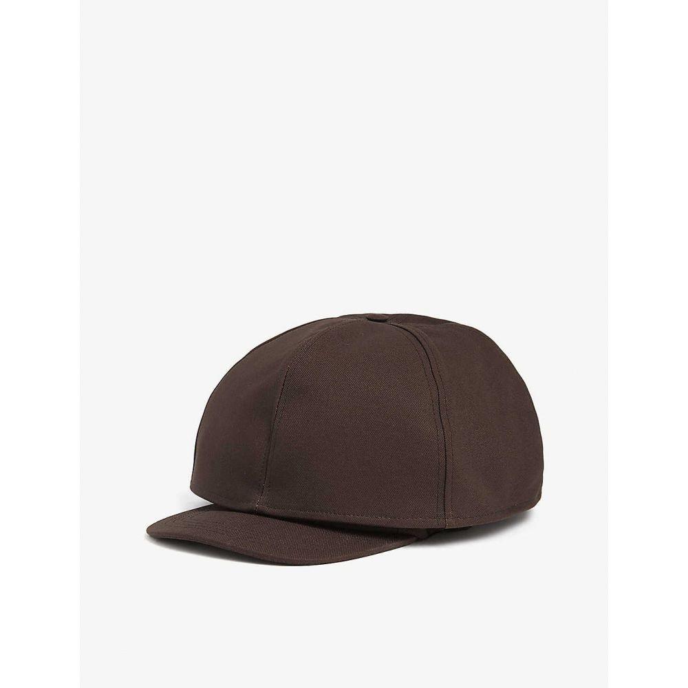 ラフ シモンズ メンズ 帽子 キャップ 【サイズ交換無料】 ラフ シモンズ RAF SIMONS メンズ キャップ ベースボールキャップ 帽子【double layer baseball cap】Dark brown