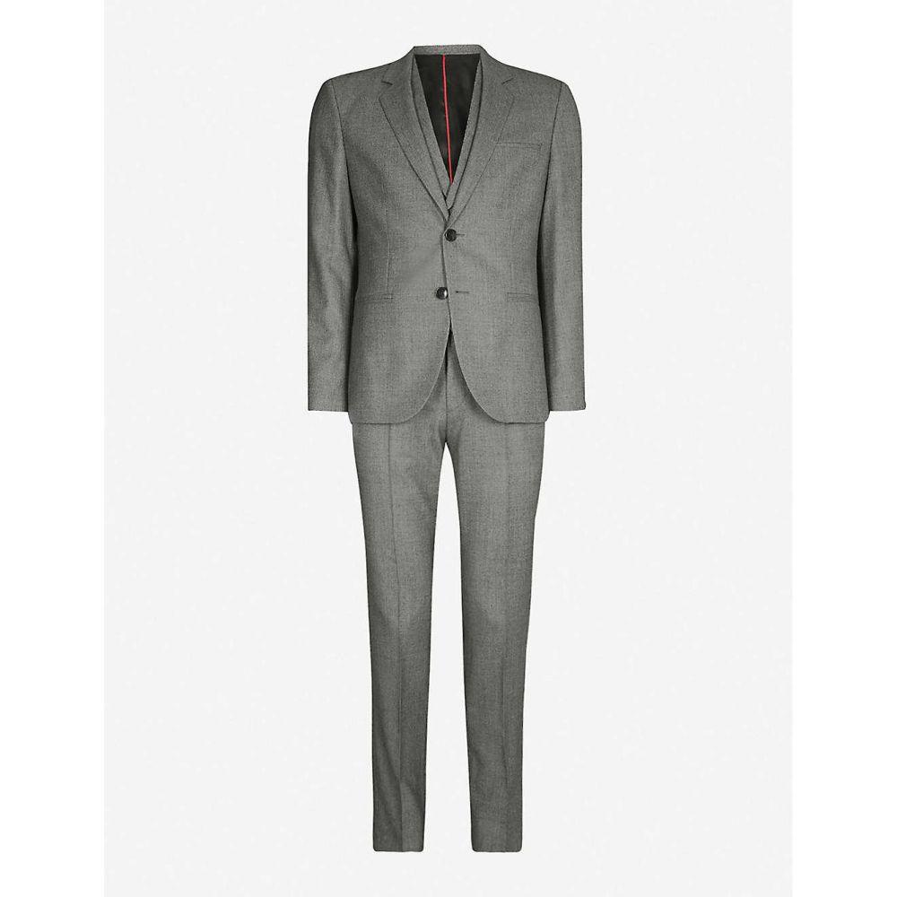 ヒューゴ ボス HUGO メンズ スーツ・ジャケット アウター【three-piece virgin wool suit】Dark grey