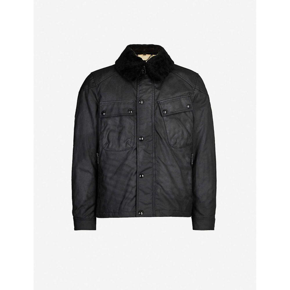 ベルスタッフ BELSTAFF メンズ ジャケット シアリング アウター【patrol shearling collar waxed cotton jacket】Black