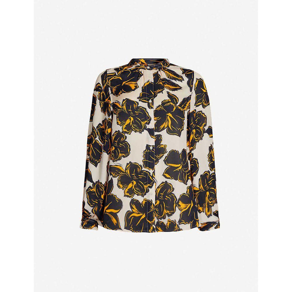 ホイッスルズ WHISTLES レディース ブラウス・シャツ トップス【floral-print slim-fit silk shirt】Multi-coloured