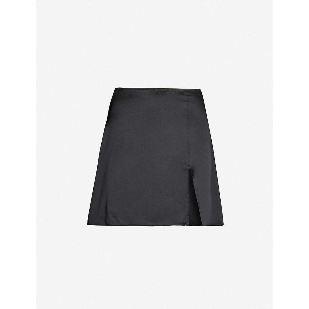 リフォーメーション REFORMATION レディース ミニスカート スカート【robbie high-waist silk mini skirt】Black