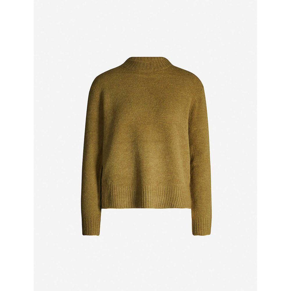 ホイッスルズ WHISTLES レディース ニット・セーター トップス【high-neck stretch-knit jumper】Khaki/olive