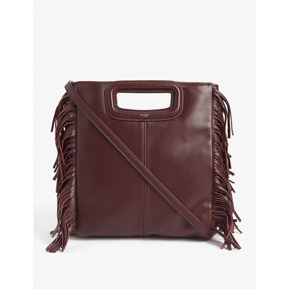 マージュ MAJE レディース ショルダーバッグ バッグ【m leather shoulder bag】Burgundy