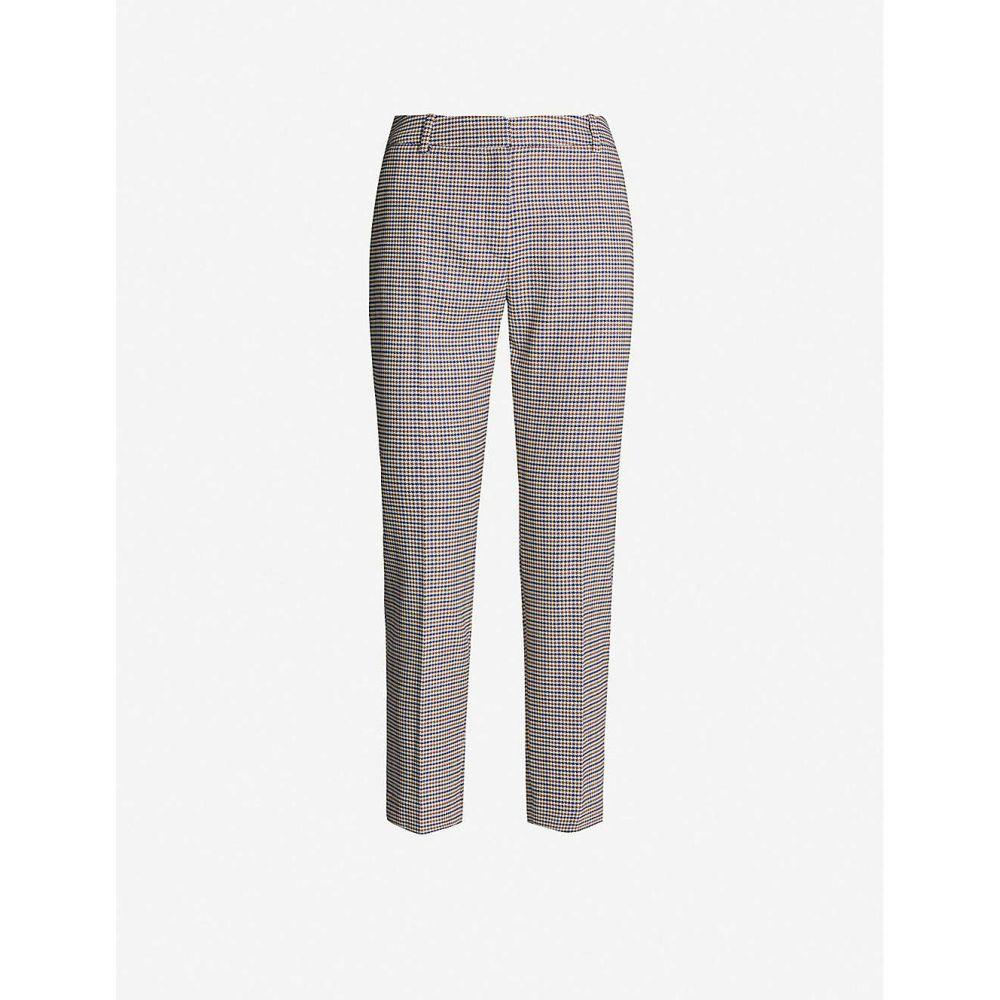 クローディ ピエルロ CLAUDIE PIERLOT レディース ボトムス・パンツ 【mid-rise checked woven tapered trousers】Multico