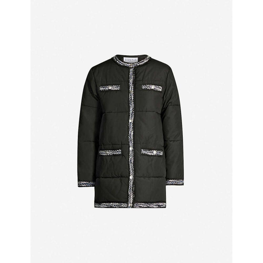 クローディ ピエルロ CLAUDIE PIERLOT レディース コート アウター【contrast-trim shell coat】Black