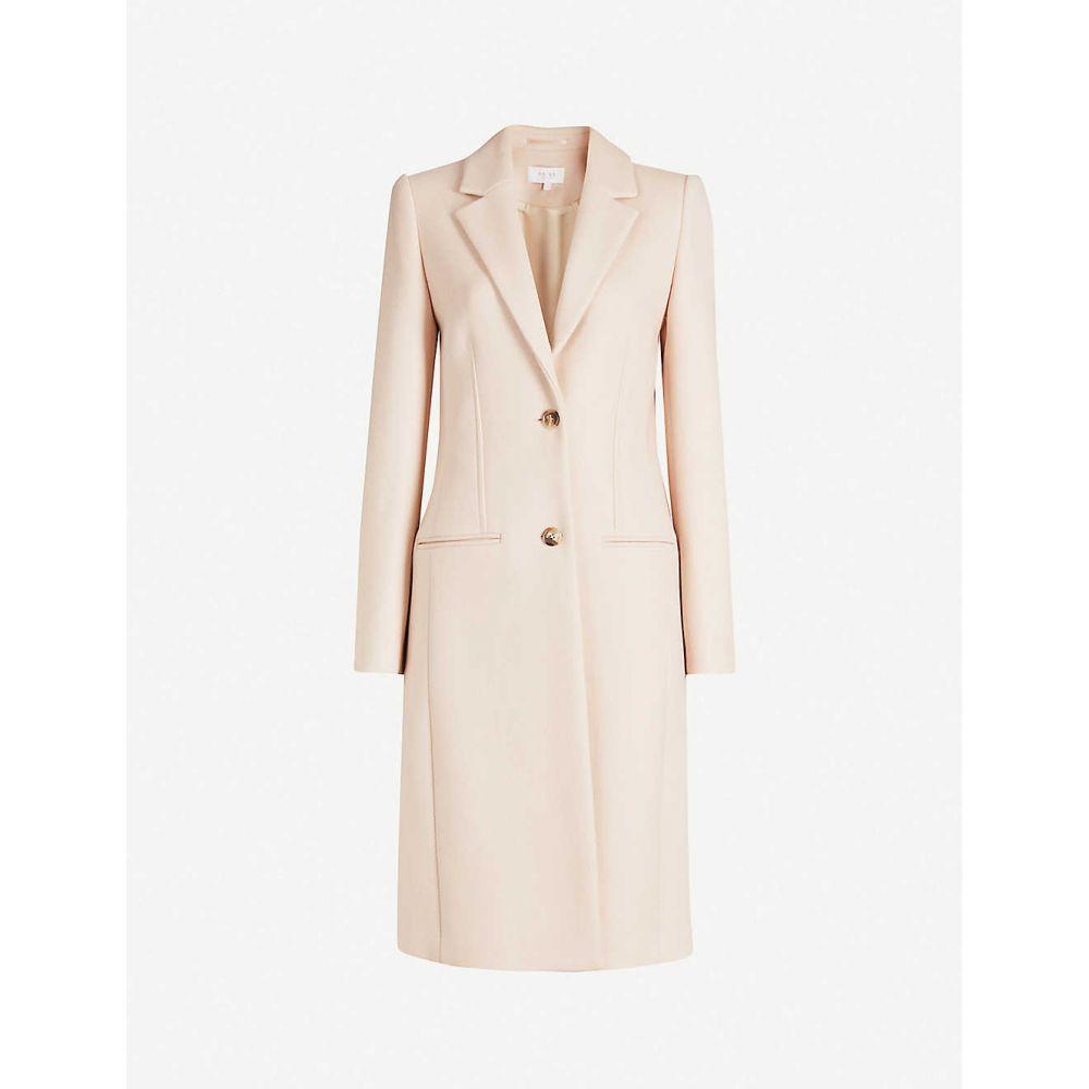 リース REISS レディース コート アウター【pembury wool-blend coat】Pale pink