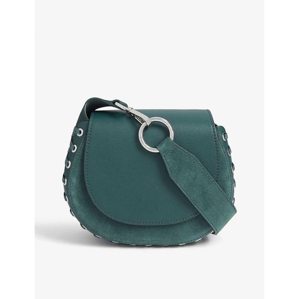 マージュ MAJE レディース ショルダーバッグ バッグ【leather and suede saddle bag】Green