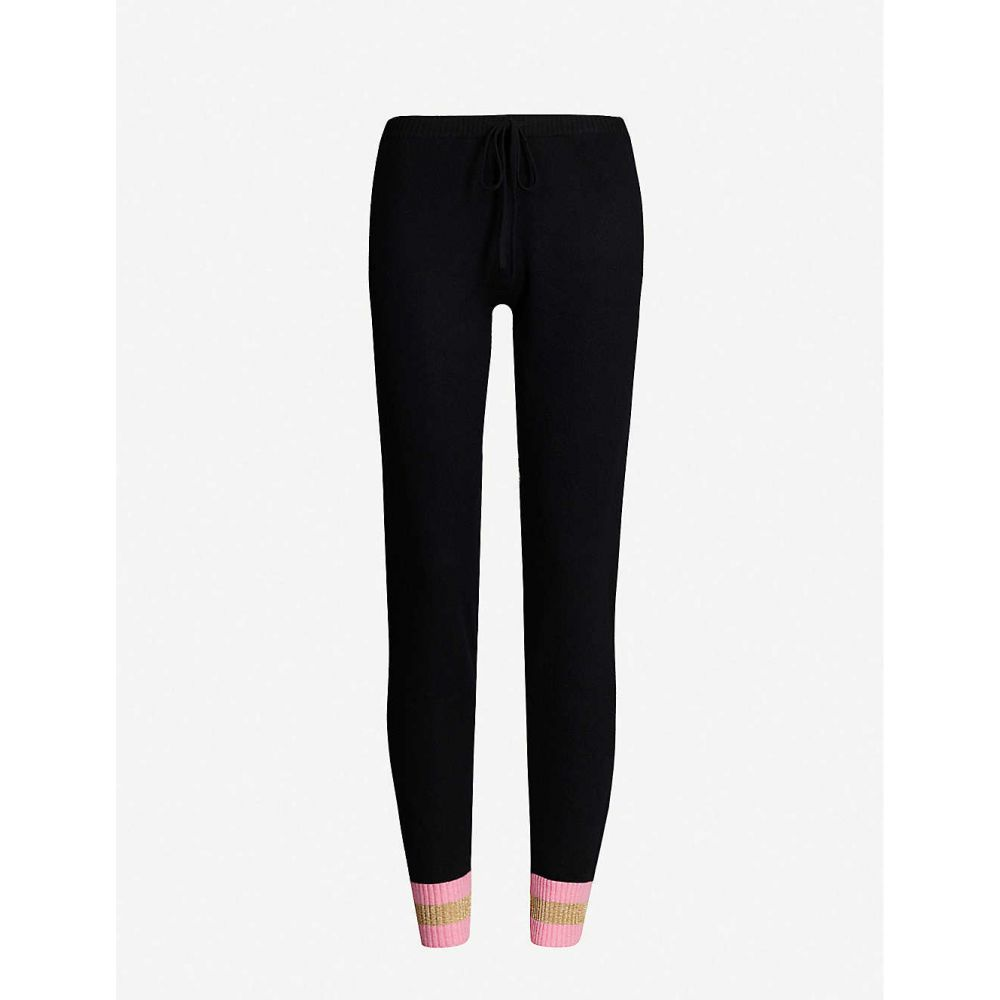 マデリーン トンプソン MADELEINE THOMPSON レディース ニット・セーター トップス【bill stripe-trimmed cashmere jogging bottoms】Black pink gold