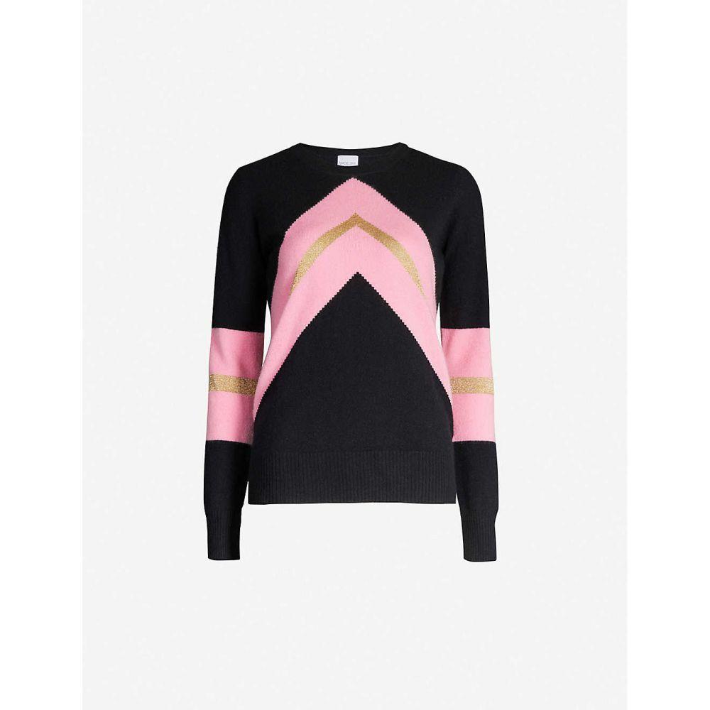 マデリーン トンプソン MADELEINE THOMPSON レディース ニット・セーター トップス【timothy chevron-pattern cashmere jumper】Black pink gold