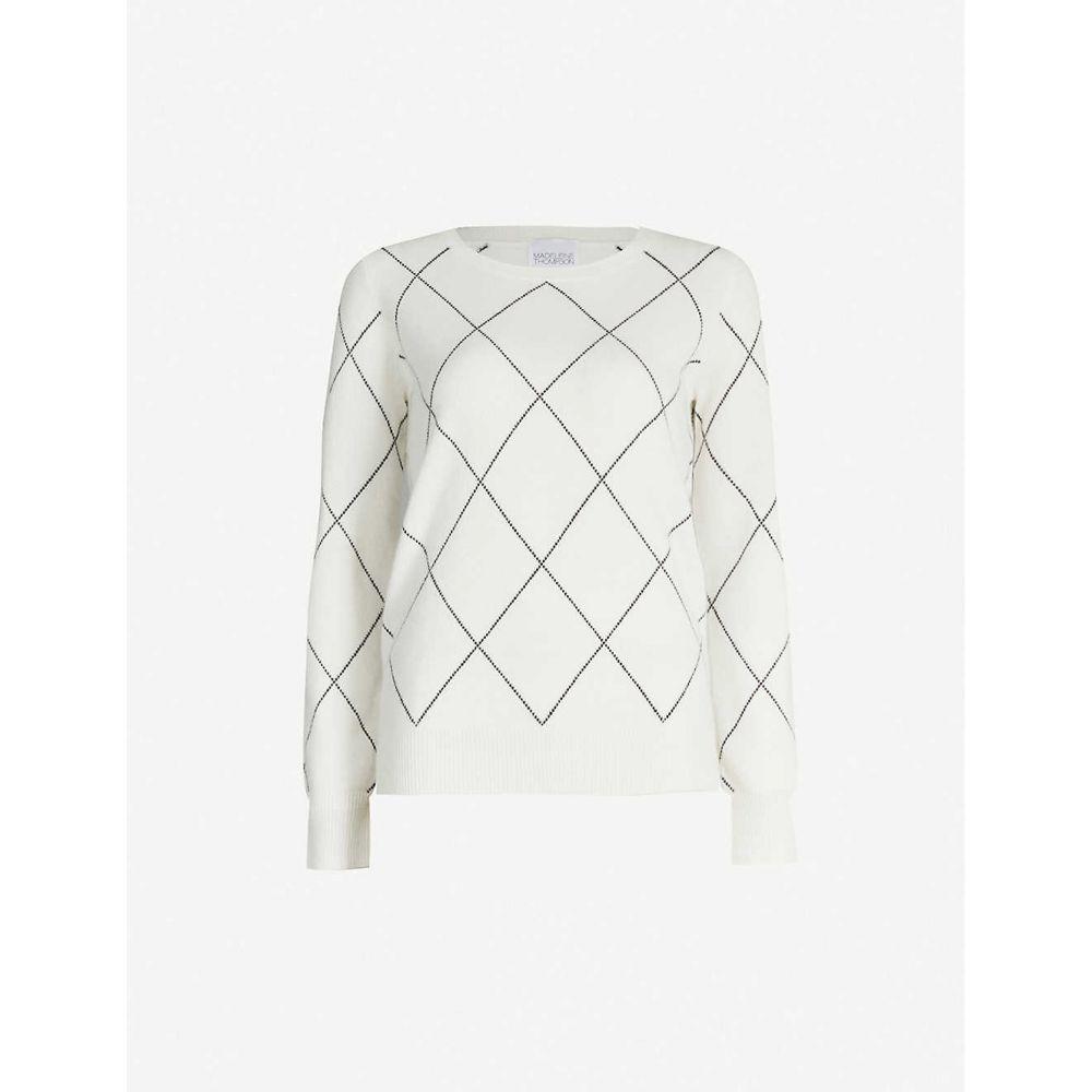 マデリーン トンプソン MADELEINE THOMPSON レディース ニット・セーター トップス【dory geometric-pattern cashmere jumper】Cream