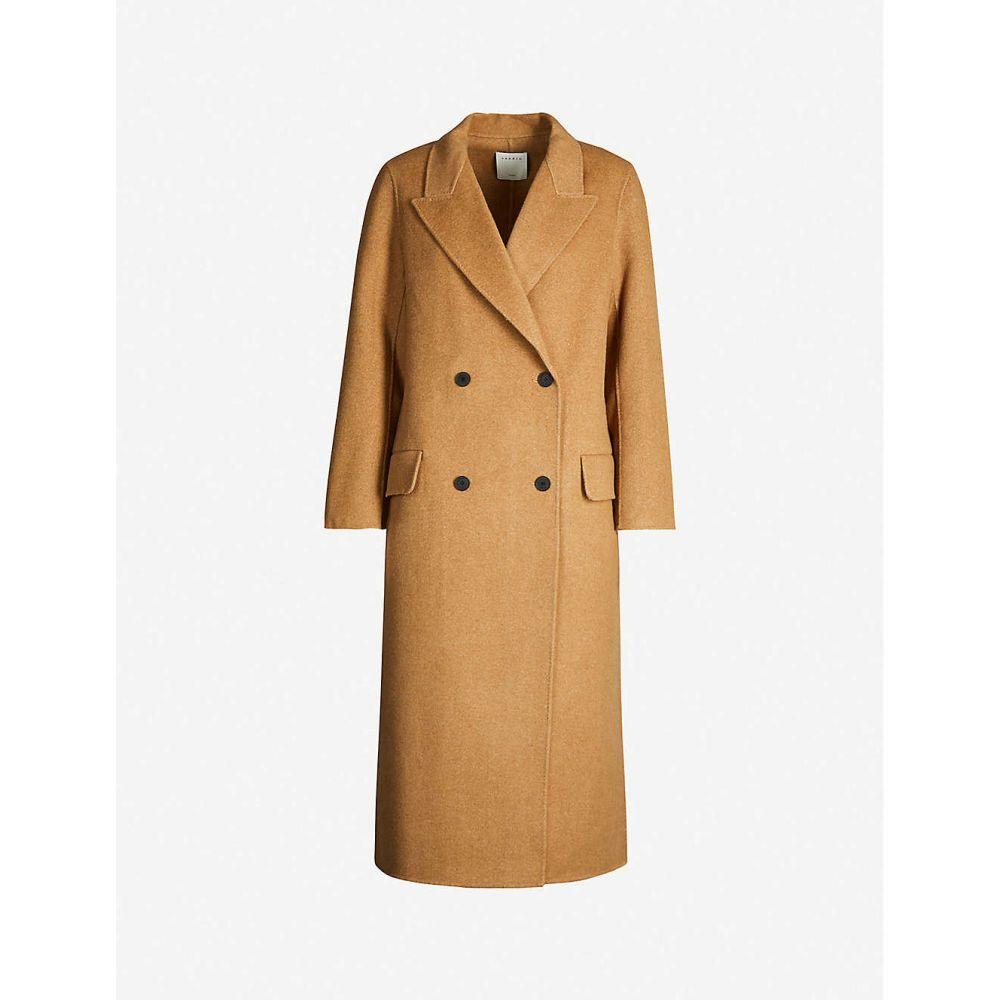 サンドロ SANDRO レディース コート ダブルブレストコート アウター【double-breasted wool coat】Beige