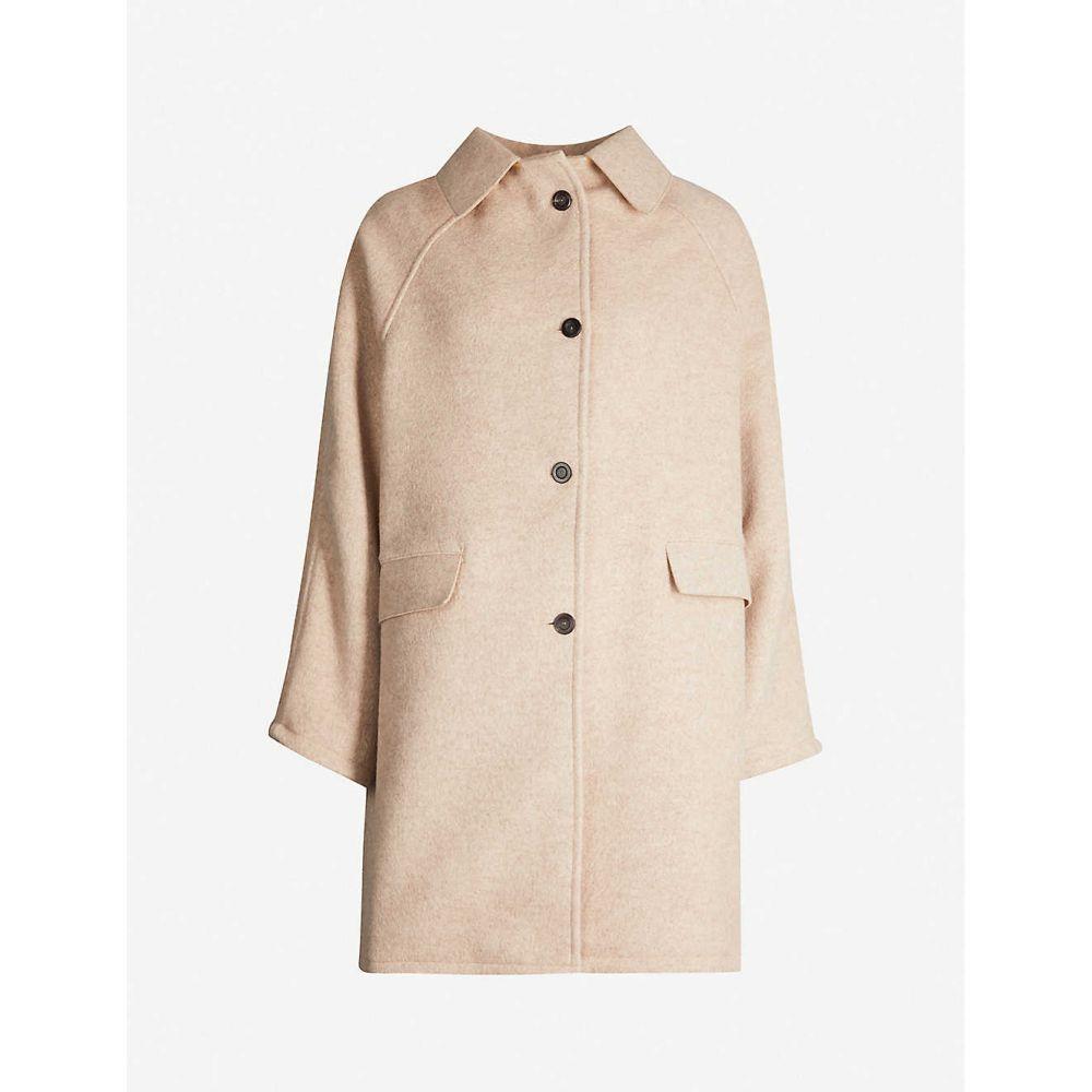カッスル エディションズ KASSL EDITIONS レディース コート アウター【button-through wool and cashmere-blend coat】Cream