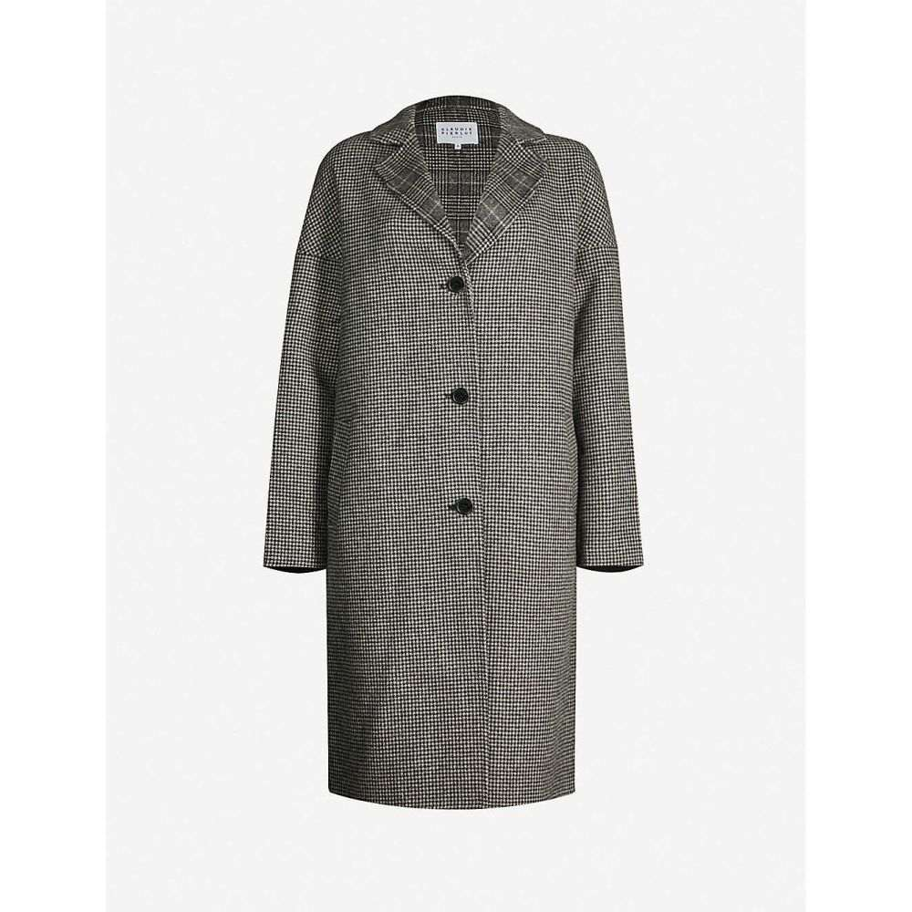 クローディ ピエルロ CLAUDIE PIERLOT レディース コート アウター【galva check-print wool-blend coat】Bicolore