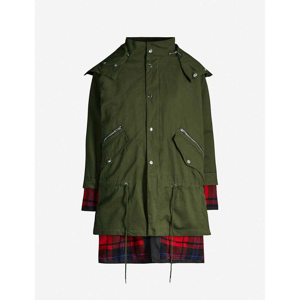 マージュ MAJE レディース コート アウター【layered cotton hooded coat】Khaki