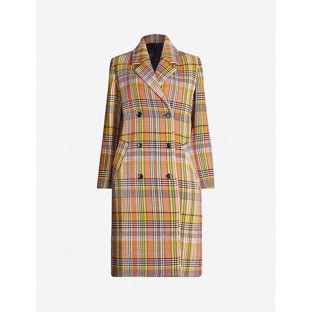 サムソエ&サムソエ SAMSOE & SAMSOE レディース コート アウター【tille check-pattern cotton-blend coat】Inca cress ch.
