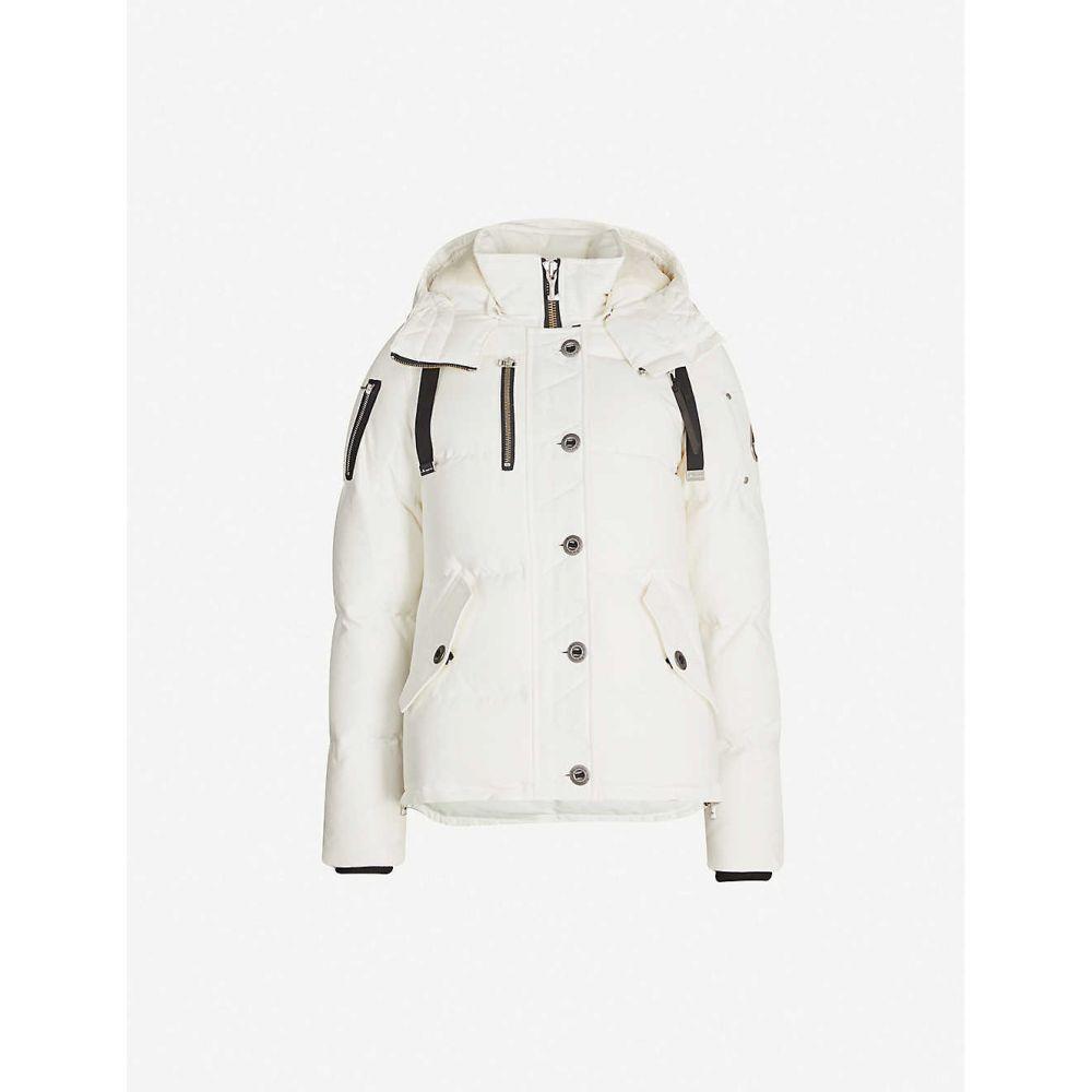 ムースナックル MOOSE KNUCKLES レディース ジャケット アウター【knowlesville drawstring-hood cotton-blend jacket】White