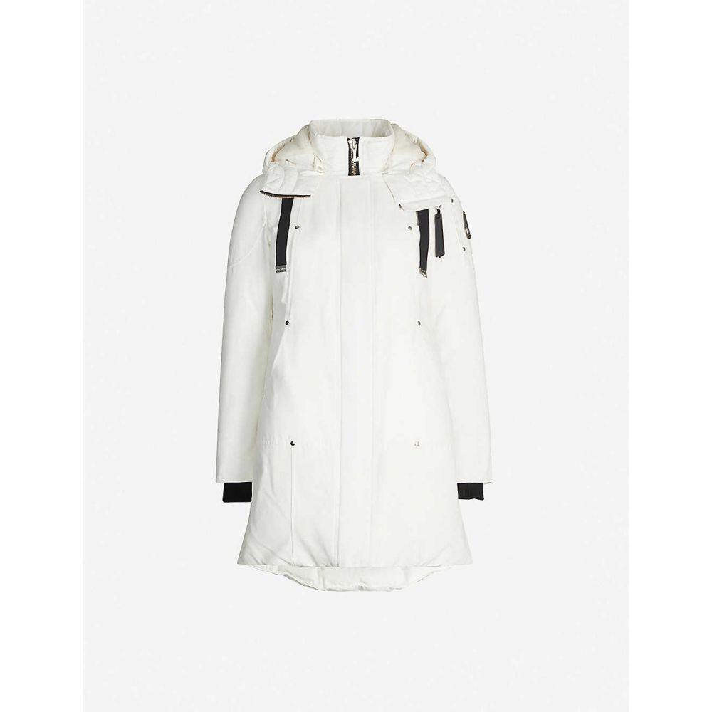 ムースナックル MOOSE KNUCKLES レディース コート アウター【longue rive park padded cotton-blend coat】Snow white