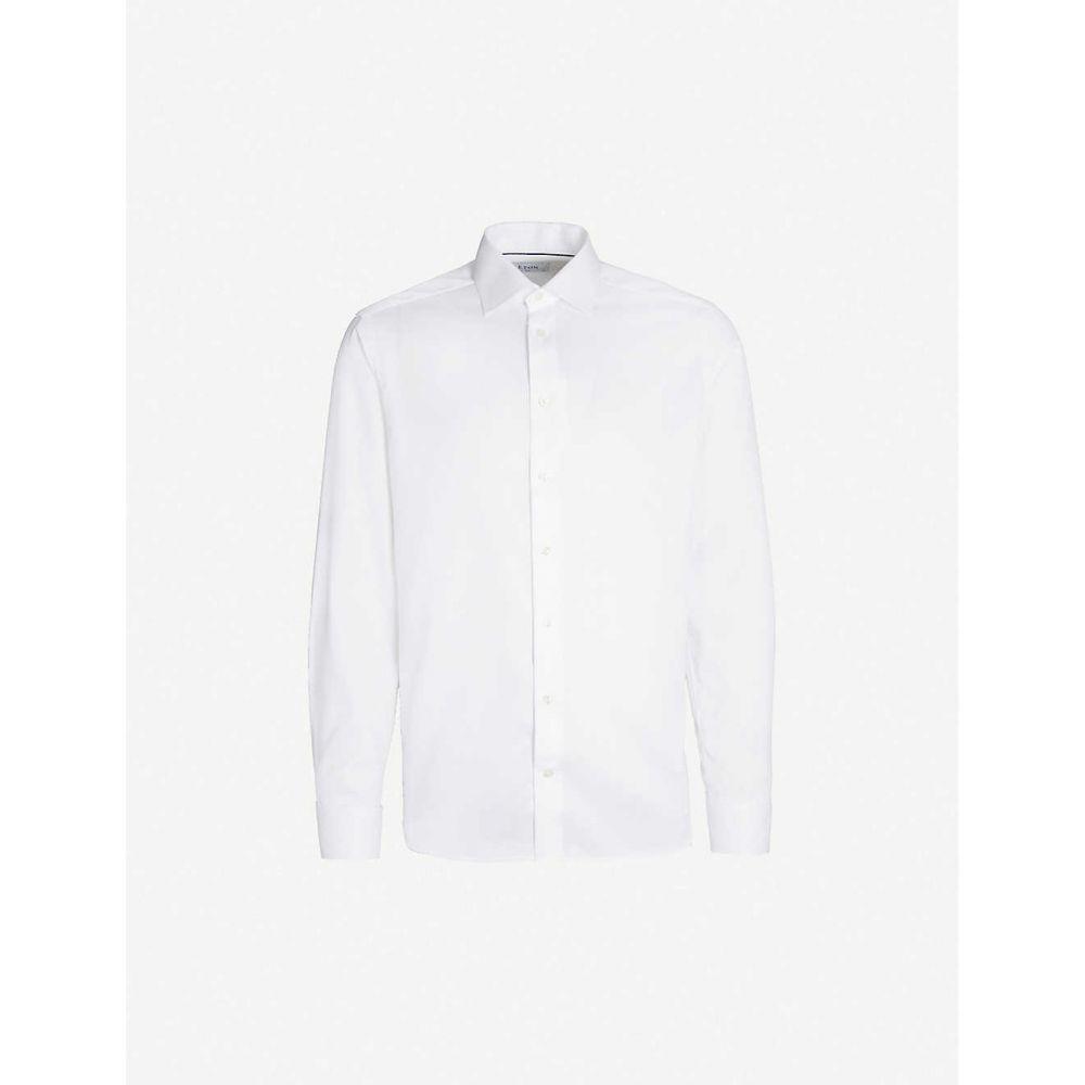 イートン ETON メンズ シャツ トップス【Slim-fit cotton-twill shirt】White