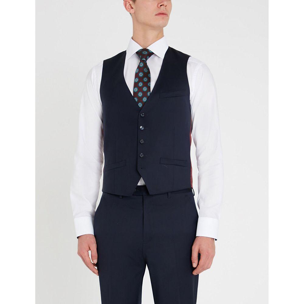 テッドベーカー TED BAKER メンズ ベスト・ジレ トップス【Debonair modern-fit wool waistcoat】DK-BLUE