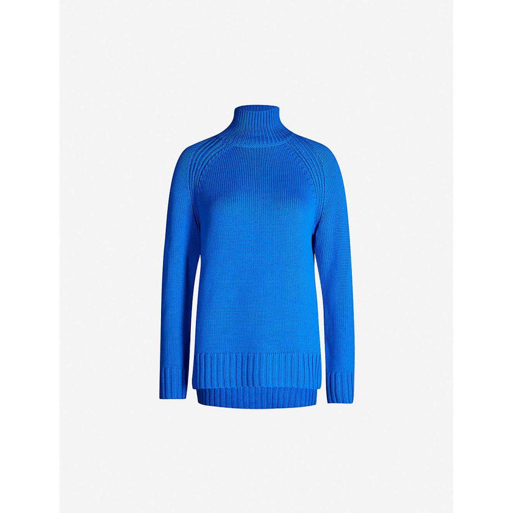 ジョゼフ JOSEPH レディース ニット・セーター トップス【Sloppy Joe turtleneck wool jumper】Plastic blue