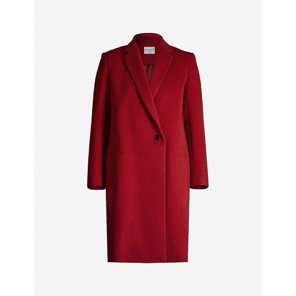 クローディ ピエルロ CLAUDIE PIERLOT レディース コート アウター【Single-breasted wool-blend coat】Cerise