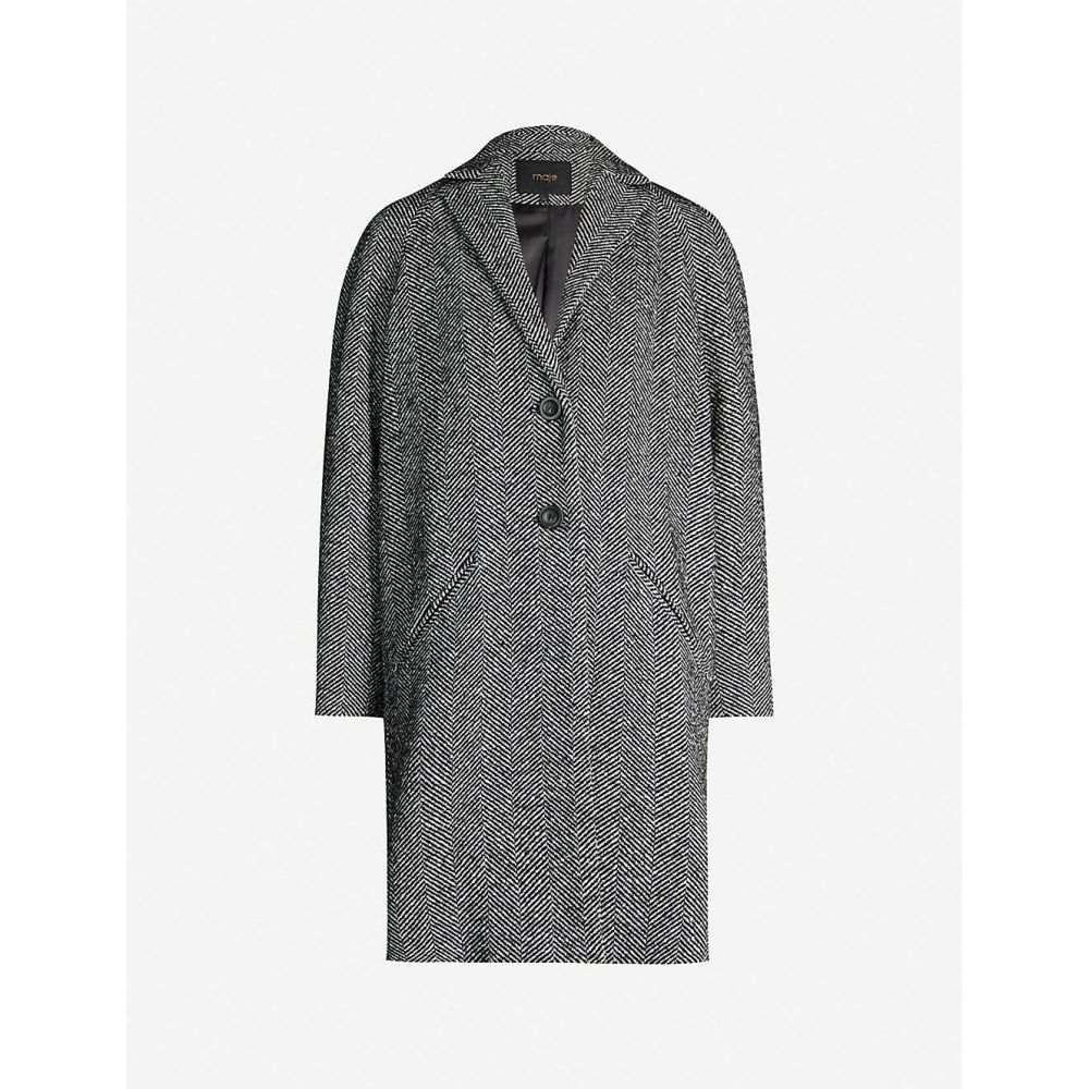 マージュ MAJE レディース コート アウター【Gedeon herringbone woven coat】Grey