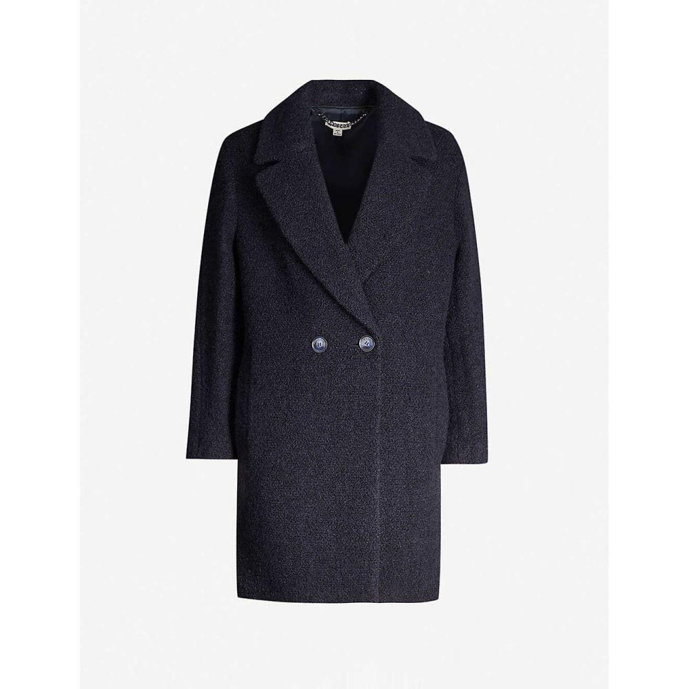ホイッスルズ WHISTLES レディース コート ダブルブレストコート アウター【Double-breasted knitted coat】NAVY