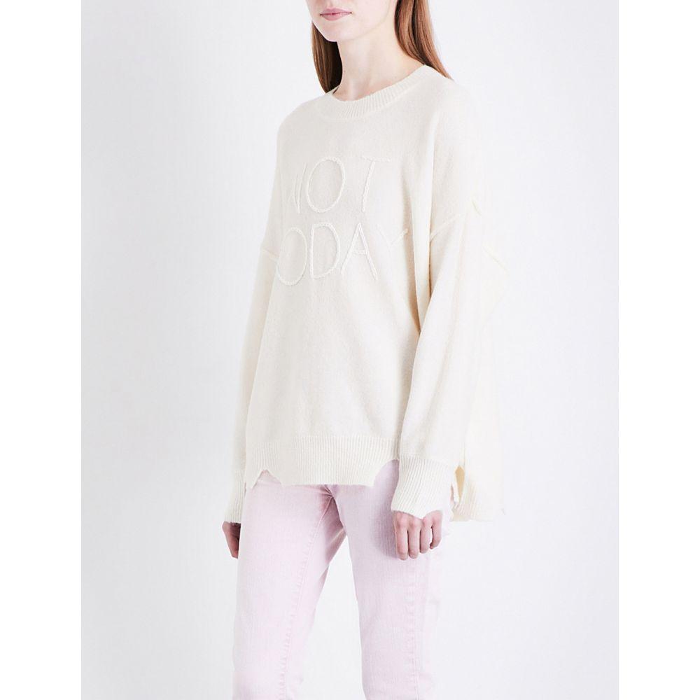 ワイルドフォックス WILDFOX レディース ニット・セーター トップス【Not Today knitted jumper】Vintage lace