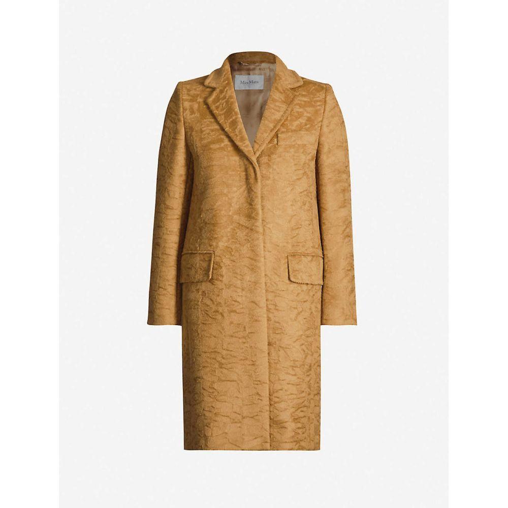 マックスマーラ MAX MARA レディース コート アウター【Oncia tassle-fringe belt wool-blend coat】CAMMELLO