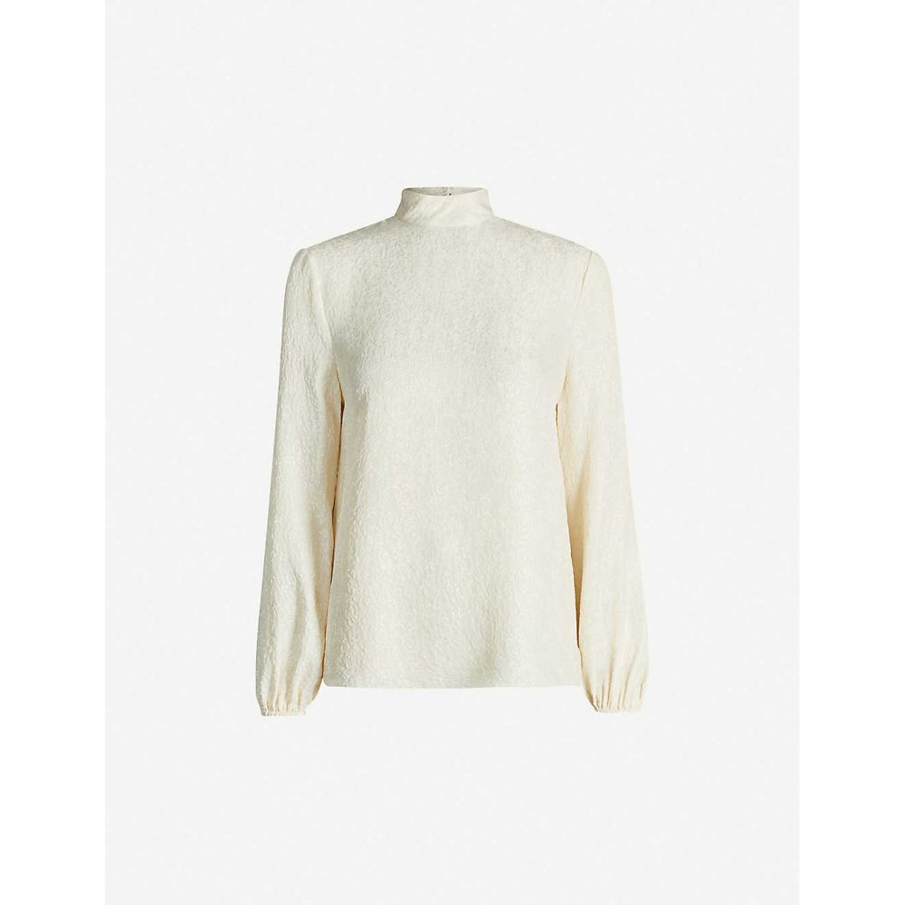 セオリー THEORY レディース ブラウス・シャツ トップス【Turtleneck silk blouse】Cream Cw