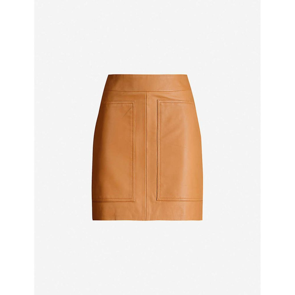 IBEN レディース ミニスカート スカート【Sigge high-waist leather mini skirt】Spice