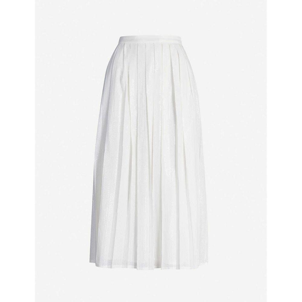 オリビアルービン OLIVIA RUBIN レディース ひざ丈スカート スカート【Esme sequinned midi skirt】WHITE