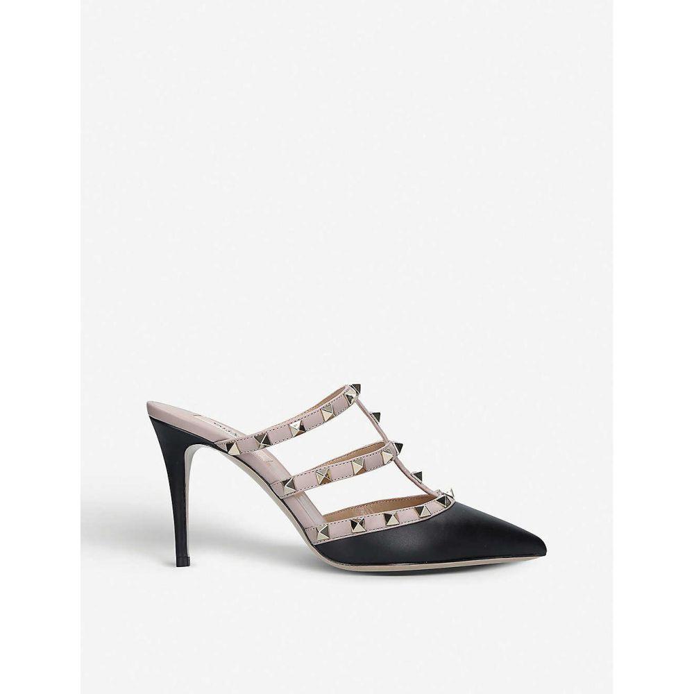 ヴァレンティノ VALENTINO レディース サンダル・ミュール シューズ・靴【Rockstud leather heeled mules】Blk/beige