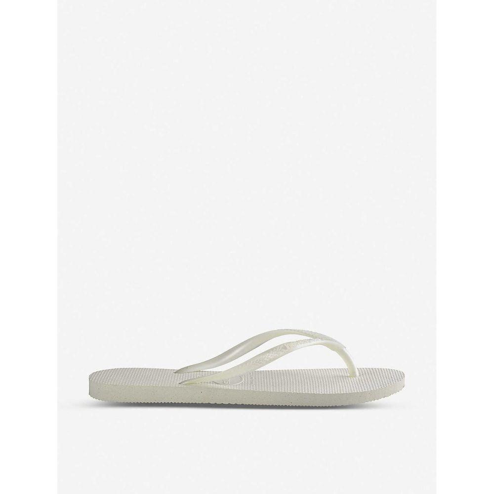 ハワイアナス HAVAIANAS レディース ビーチサンダル シューズ・靴【Slim rubber flip-flops】Slim white