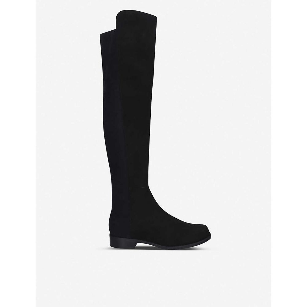 スチュアート ワイツマン STUART WEITZMAN レディース ブーツ シューズ・靴【5050 suede heeled over-the-knee boots】Black