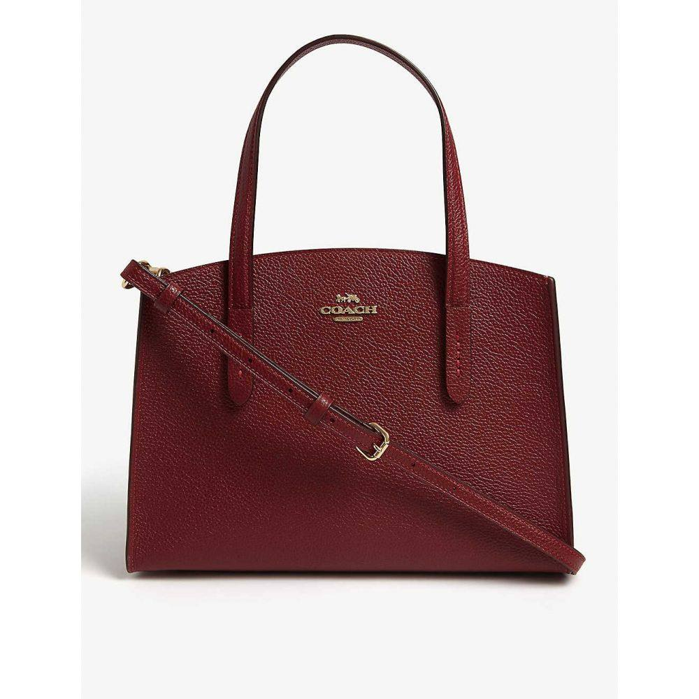 コーチ COACH レディース ショルダーバッグ バッグ【Charlie small grained leather shoulder bag】Gd/deep red