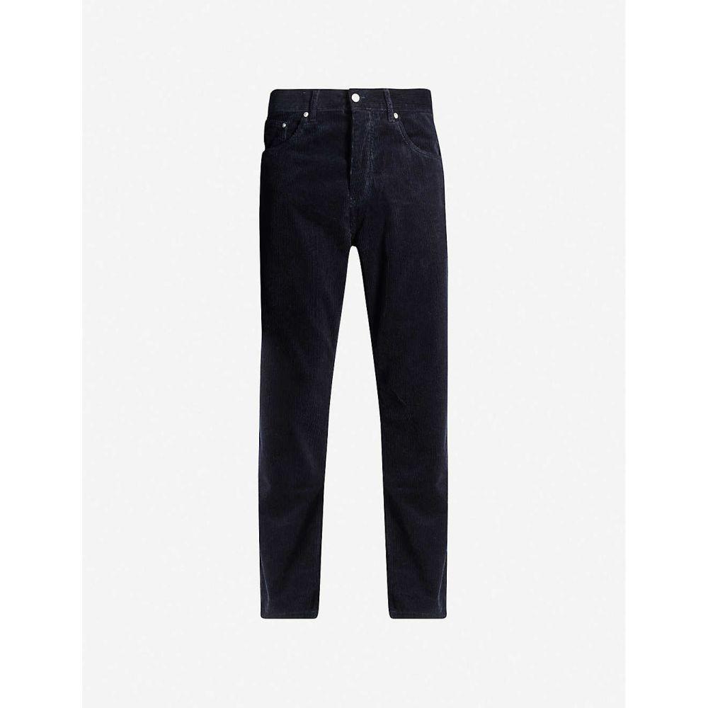 カーハート CARHARTT WIP メンズ ボトムス・パンツ 【Newel tapered corduroy trousers】Dark navy
