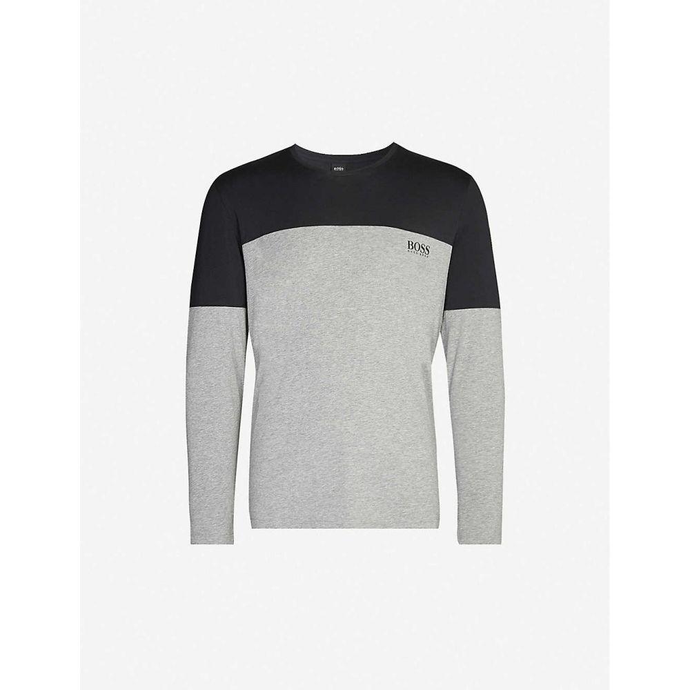 ヒューゴ ボス BOSS メンズ パジャマ・トップのみ インナー・下着【Long-sleeved stretch-cotton pyjama top】BLACK
