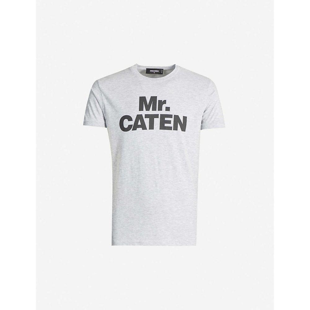 ディースクエアード DSQUARED2 メンズ Tシャツ トップス【Mr. Caten stretch-cotton T-shirt】GREY