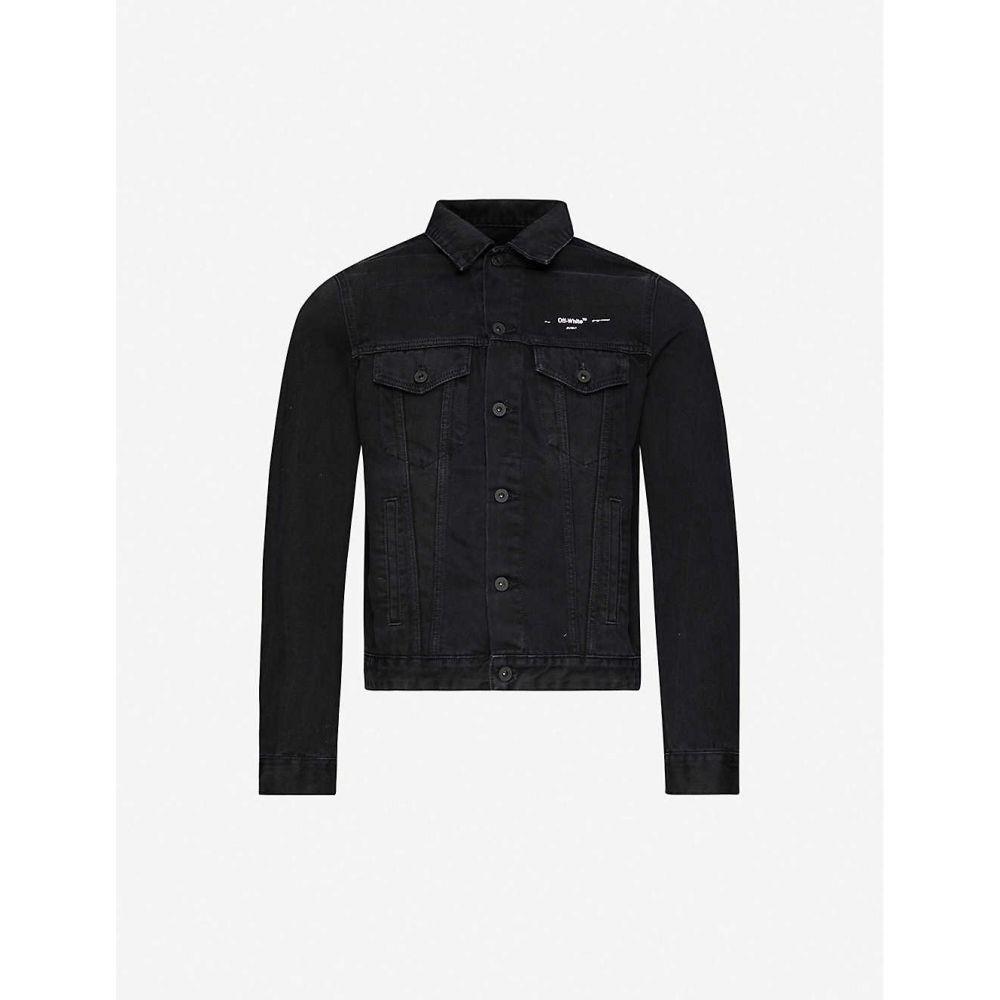 オフホワイト OFF-WHITE C/O VIRGIL ABLOH メンズ ジャケット Gジャン アウター【Logo-print denim jacket】BLACK