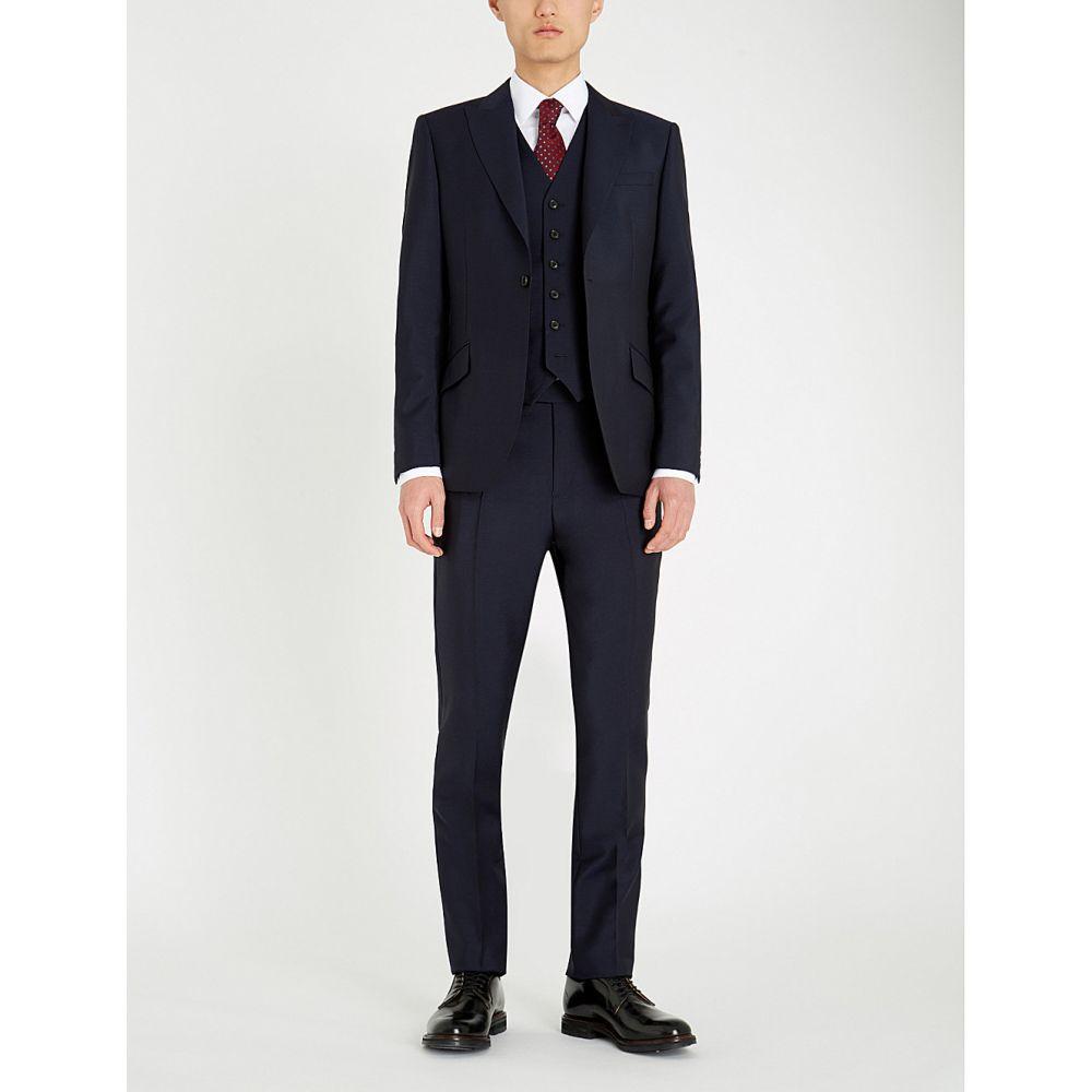 リース REISS メンズ スーツ・ジャケット アウター【Washington modern-fit wool and mohair-blend suit】Navy