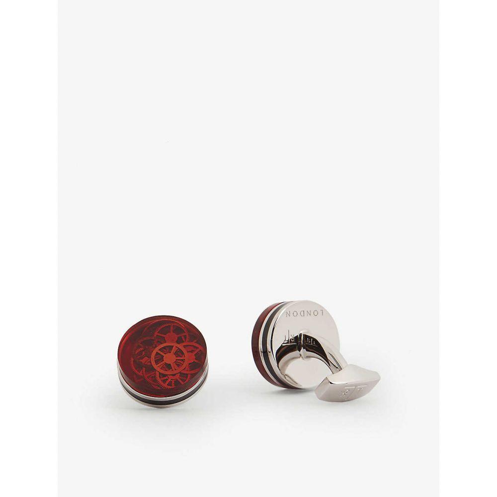 タテオシアン TATEOSSIAN メンズ カフス・カフリンクス 【Resin gear cufflinks】RED