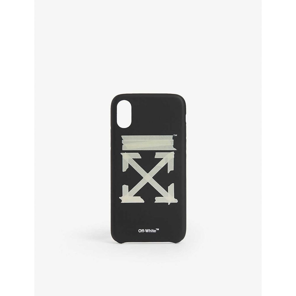 オフホワイト OFF-WHITE C/O VIRGIL ABLOH メンズ iPhone (X)ケース 【Tape arrow logo iphone xs cover】BLACK BEIGE