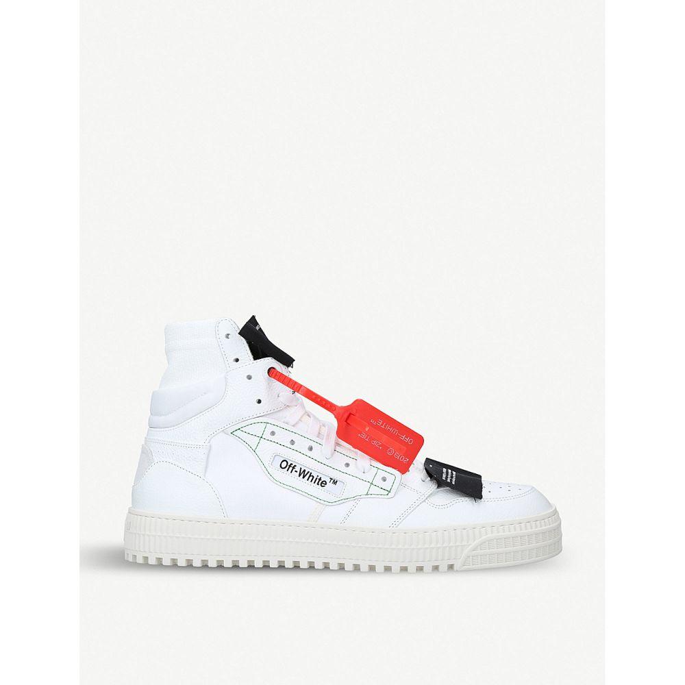 オフホワイト OFF-WHITE C/O VIRGIL ABLOH メンズ スニーカー シューズ・靴【Off-court leather trainers】WHITE