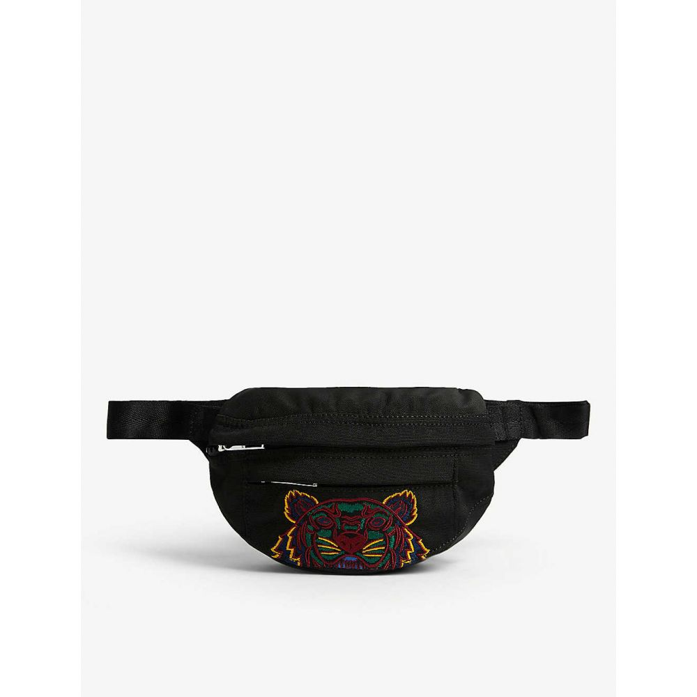 ケンゾー KENZO メンズ ボディバッグ・ウエストポーチ バッグ【Logo-embroidered shell belt bag】Black