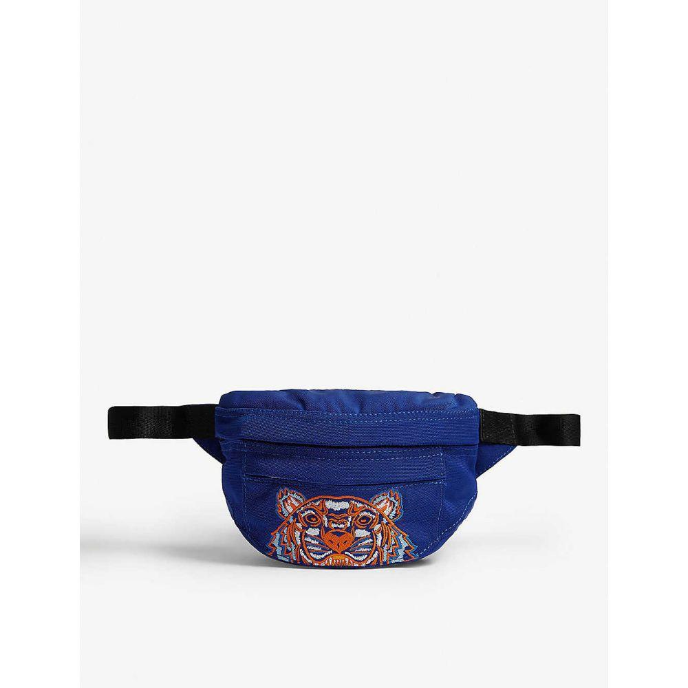 ケンゾー KENZO メンズ ボディバッグ・ウエストポーチ バッグ【Logo-embroidered shell belt bag】Slate blue