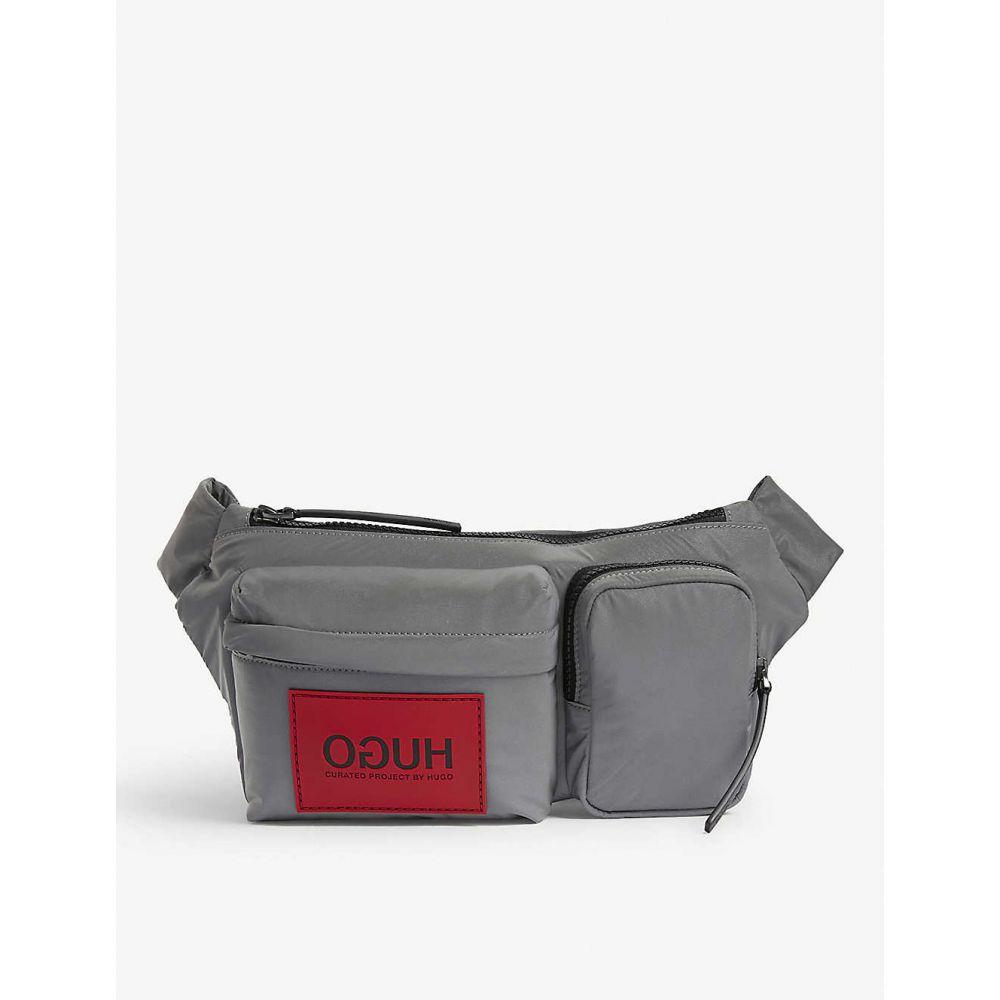 ヒューゴ ボス HUGO メンズ ボディバッグ・ウエストポーチ バッグ【Nylon belt bag】Silver