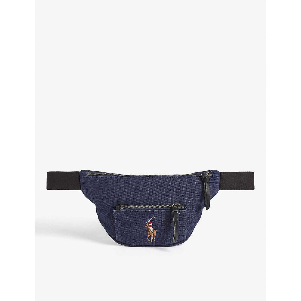 ラルフ ローレン POLO RALPH LAUREN メンズ ボディバッグ・ウエストポーチ バッグ【Logo canvas belt bag】NAVY/BLACK